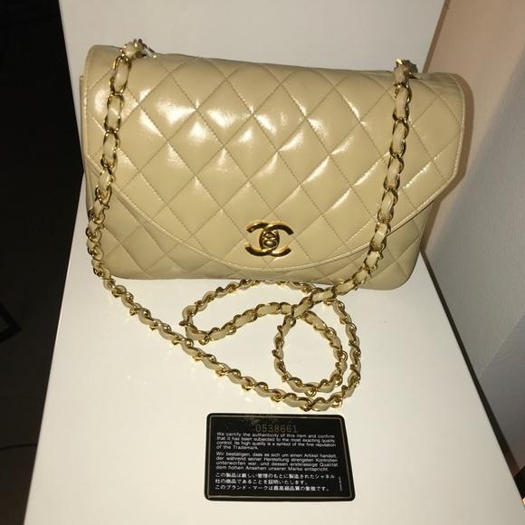 4384d6a01c88 CHANEL Bags | Sold Auth Beige Lambskin Single Flap | Poshmark